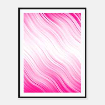 Stripes Wave Pattern 10 dp Framed poster Bild der Miniatur
