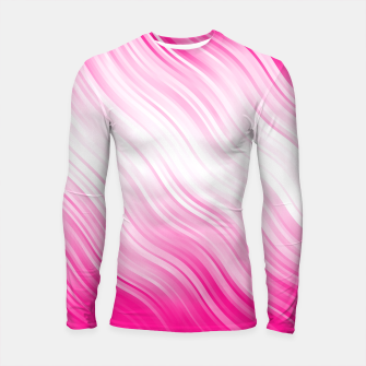 Stripes Wave Pattern 10 dp Longsleeve rashguard  miniature