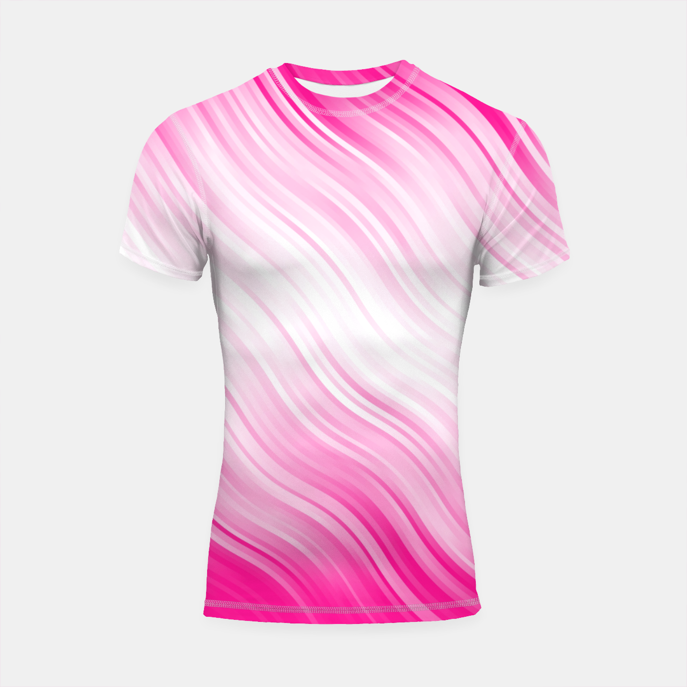 Foto Stripes Wave Pattern 10 dp Shortsleeve rashguard - Live Heroes