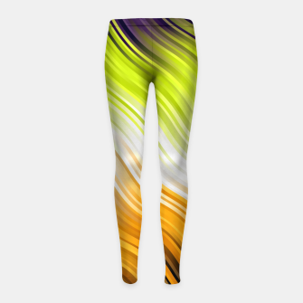 Stripes Wave Pattern 10 std Girl's leggings thumbnail image