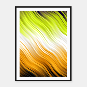 Miniatur Stripes Wave Pattern 10 std Framed poster, Live Heroes