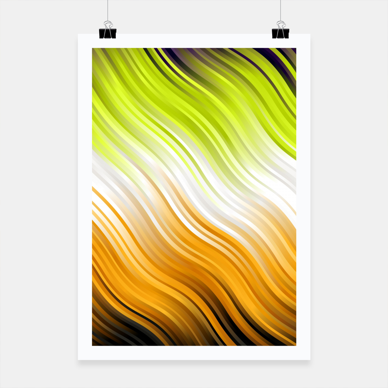 Image of Stripes Wave Pattern 10 std Poster - Live Heroes
