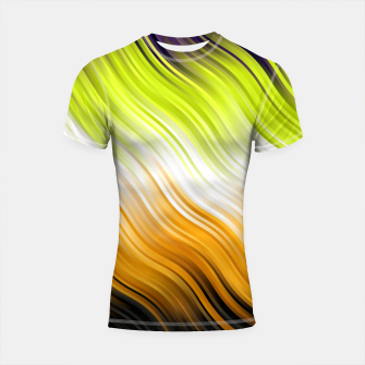 Stripes Wave Pattern 10 std Shortsleeve rashguard Bild der Miniatur