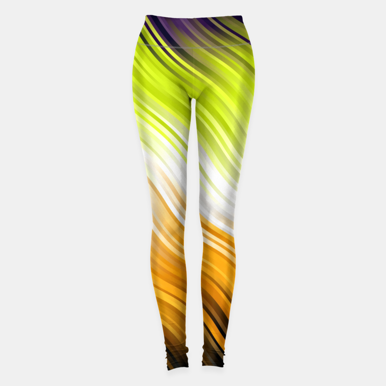 Image of Stripes Wave Pattern 10 std Leggings - Live Heroes