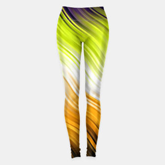 Miniatur Stripes Wave Pattern 10 std Leggings, Live Heroes