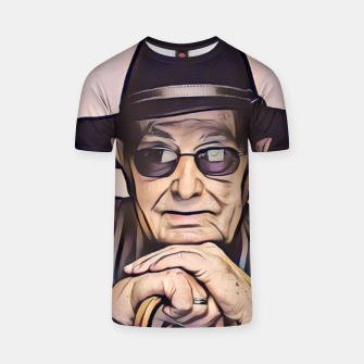 Thumbnail image of Portrait photo of Manoel de Oliveira, Portuguese film director T-shirt, Live Heroes