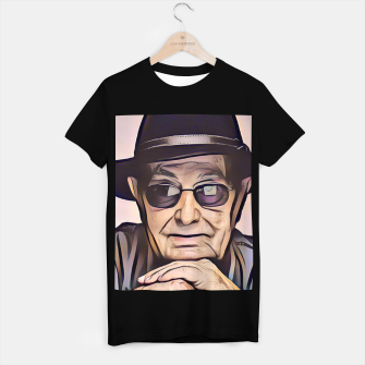 Thumbnail image of Portrait photo of Manoel de Oliveira, Portuguese film director T-shirt regular, Live Heroes