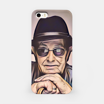 Thumbnail image of Portrait photo of Manoel de Oliveira, Portuguese film director iPhone Case, Live Heroes