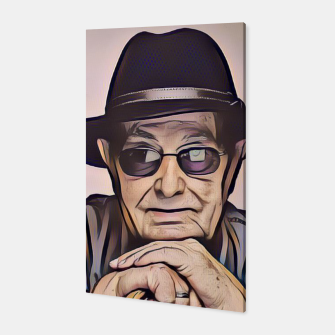 Thumbnail image of Portrait photo of Manoel de Oliveira, Portuguese film director Canvas, Live Heroes