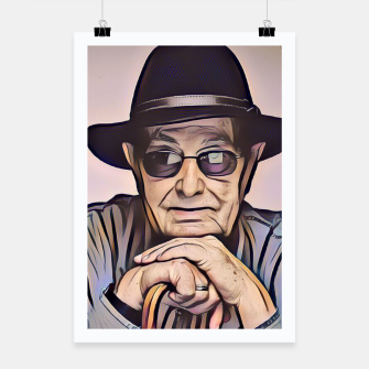 Thumbnail image of Portrait photo of Manoel de Oliveira, Portuguese film director Poster, Live Heroes