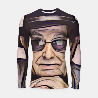 Thumbnail image of Portrait photo of Manoel de Oliveira, Portuguese film director Longsleeve rashguard , Live Heroes