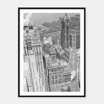 Buildings New York berenice Framed poster obraz miniatury