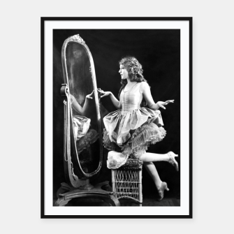 Thumbnail image of Lady mirror Framed poster, Live Heroes