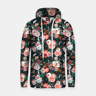 Vintage night flowery garden Sudadera con capucha thumbnail image