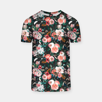 Thumbnail image of Vintage night flowery garden Camiseta, Live Heroes