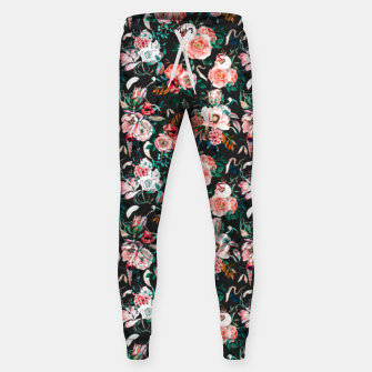 Thumbnail image of Vintage night flowery garden Pantalones de chándal , Live Heroes