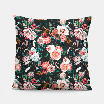 Thumbnail image of Vintage night flowery garden Almohada, Live Heroes