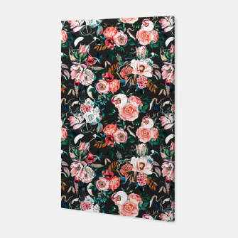 Thumbnail image of Vintage night flowery garden Canvas, Live Heroes