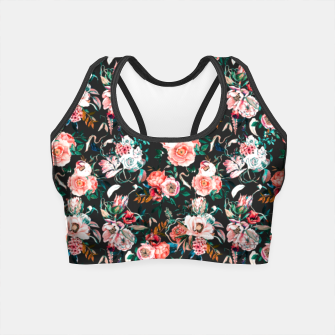 Thumbnail image of Vintage night flowery garden Crop Top, Live Heroes