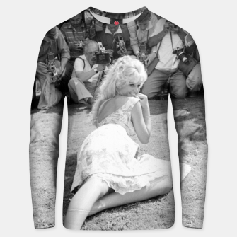 Thumbnail image of Photo of French actress Brigitte Bardot during 1958, Venice Film Festival Unisex sweater, Live Heroes