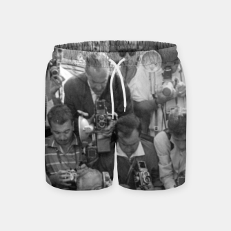 Thumbnail image of Photo of French actress Brigitte Bardot during 1958, Venice Film Festival Swim Shorts, Live Heroes