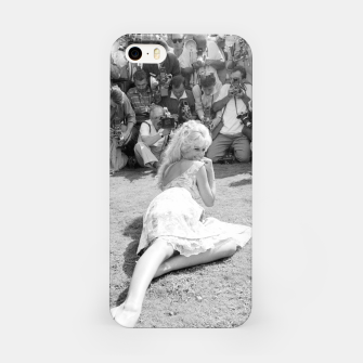 Thumbnail image of Photo of French actress Brigitte Bardot during 1958, Venice Film Festival iPhone Case, Live Heroes