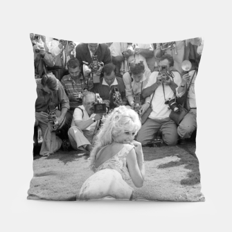 Thumbnail image of Photo of French actress Brigitte Bardot during 1958, Venice Film Festival Pillow, Live Heroes