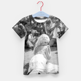 Thumbnail image of Photo of French actress Brigitte Bardot during 1958, Venice Film Festival Kid's t-shirt, Live Heroes