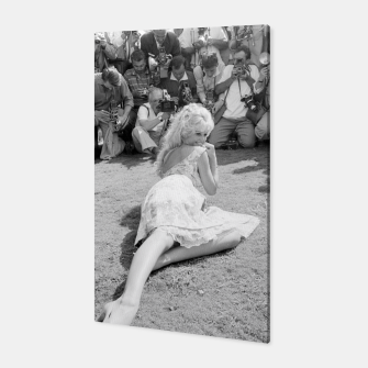 Thumbnail image of Photo of French actress Brigitte Bardot during 1958, Venice Film Festival Canvas, Live Heroes