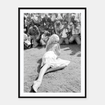 Thumbnail image of Photo of French actress Brigitte Bardot during 1958, Venice Film Festival Framed poster, Live Heroes