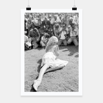 Thumbnail image of Photo of French actress Brigitte Bardot during 1958, Venice Film Festival Poster, Live Heroes