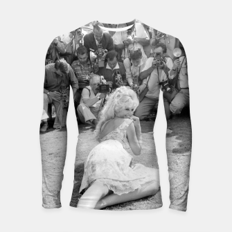 Thumbnail image of Photo of French actress Brigitte Bardot during 1958, Venice Film Festival Longsleeve rashguard , Live Heroes