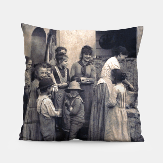 Thumbnail image of Photo by Alfred Stieglitz - The Last Joke Bellagio, 1887 Pillow, Live Heroes