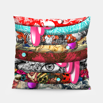 Miniatur Second Stripes Pillow, Live Heroes