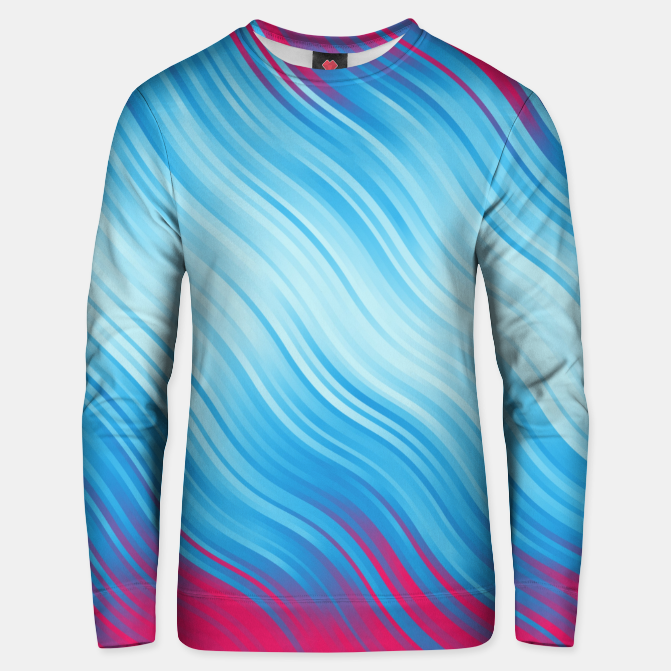 Image of Stripes Wave Pattern 10 bp Unisex sweater - Live Heroes