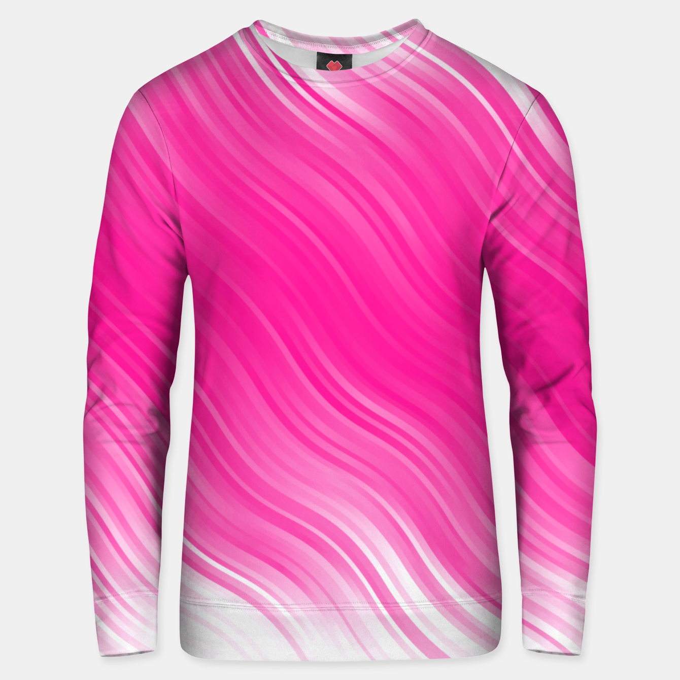 Image of Stripes Wave Pattern 10 dpi Unisex sweater - Live Heroes