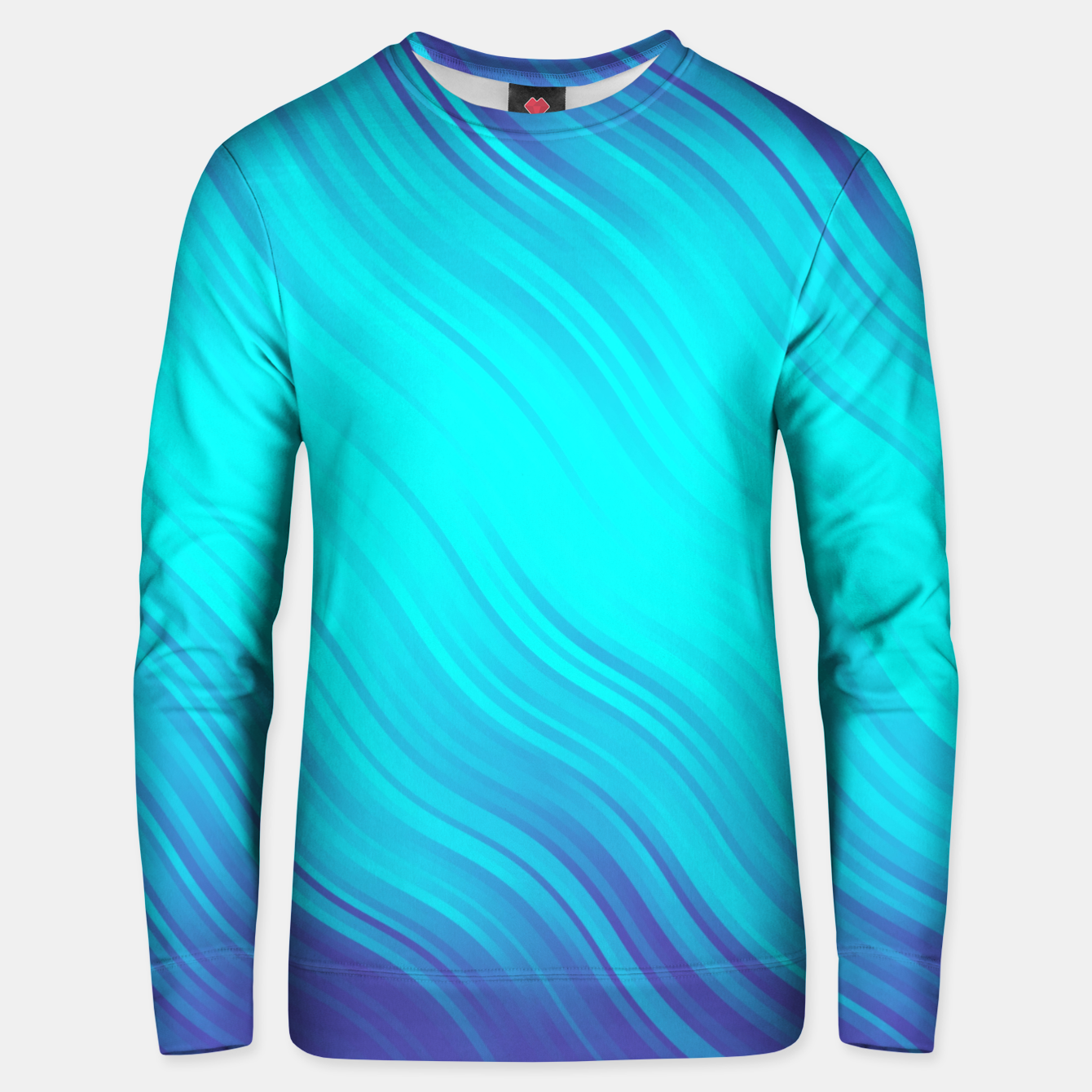 Image of Stripes Wave Pattern 10 bt Unisex sweater - Live Heroes
