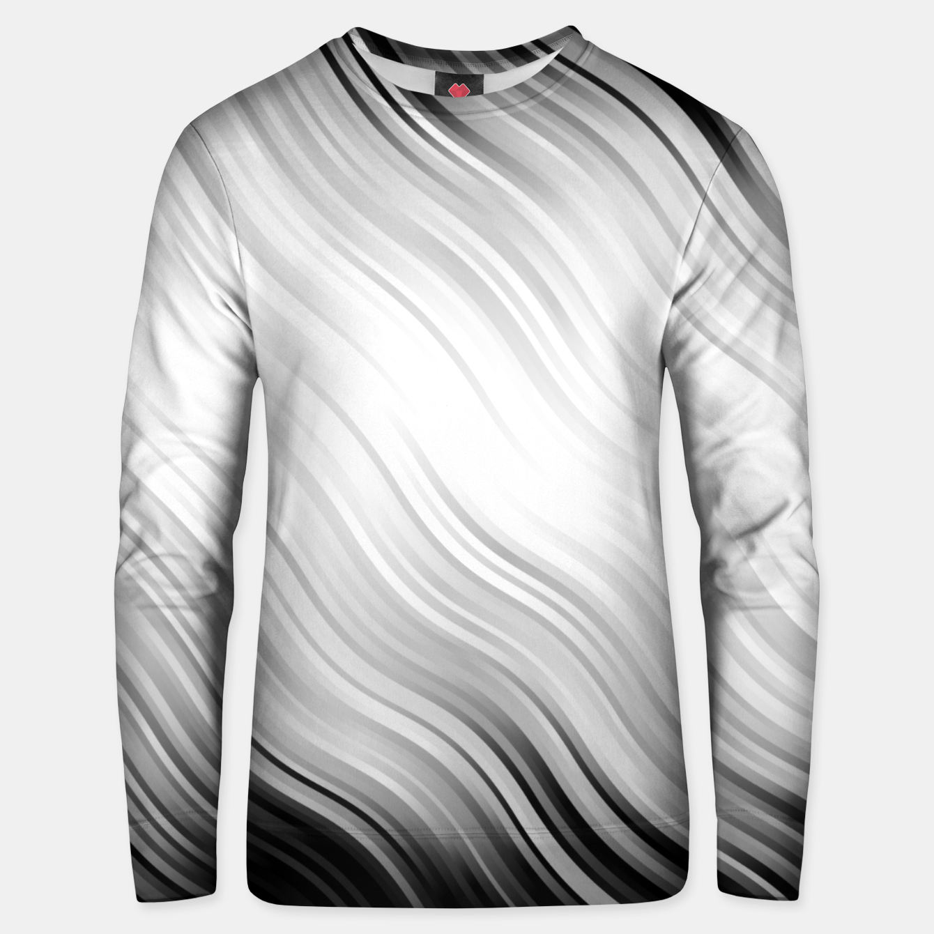 Image of Stripes Wave Pattern 10 bw Unisex sweater - Live Heroes