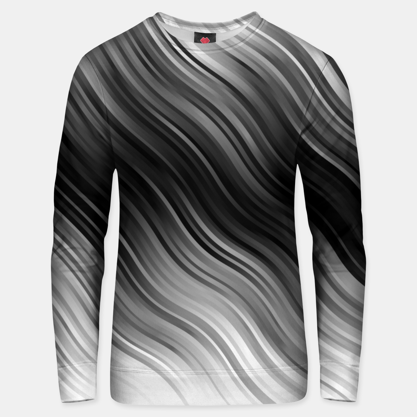 Image de Stripes Wave Pattern 10 bwi Unisex sweater - Live Heroes