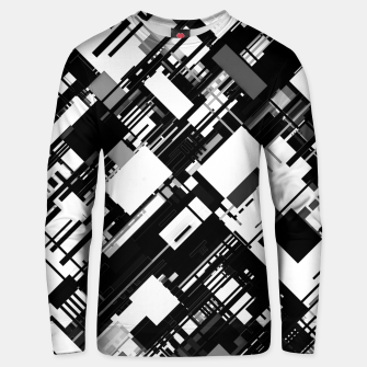Thumbnail image of Black and White Graphic Design Unisex sweater, Live Heroes