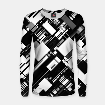 Thumbnail image of Black and White Graphic Design Women sweater, Live Heroes