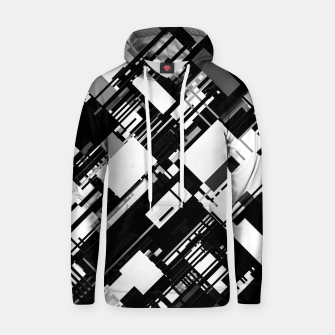 Thumbnail image of Black and White Graphic Design Hoodie, Live Heroes
