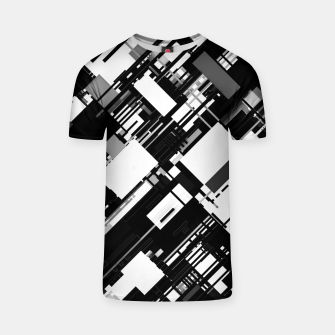 Thumbnail image of Black and White Graphic Design T-shirt, Live Heroes