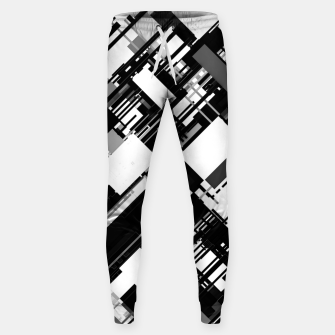 Thumbnail image of Black and White Graphic Design Sweatpants, Live Heroes