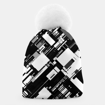 Thumbnail image of Black and White Graphic Design Beanie, Live Heroes