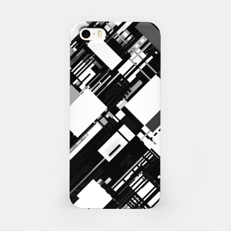 Thumbnail image of Black and White Graphic Design iPhone Case, Live Heroes