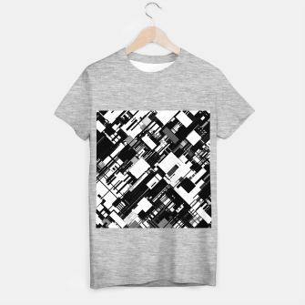 Thumbnail image of Black and White Graphic Design T-shirt regular, Live Heroes