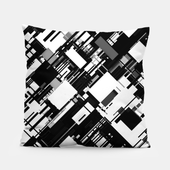 Thumbnail image of Black and White Graphic Design Pillow, Live Heroes