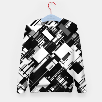 Thumbnail image of Black and White Graphic Design Kid's sweater, Live Heroes