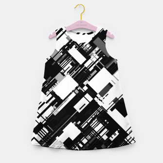 Thumbnail image of Black and White Graphic Design Girl's summer dress, Live Heroes